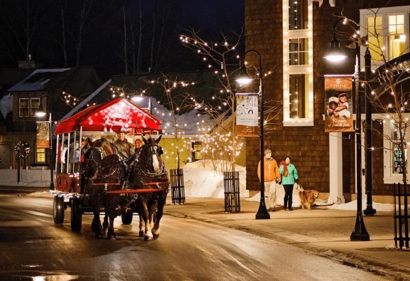 horse carriage rides at crystal mountain resort michigan