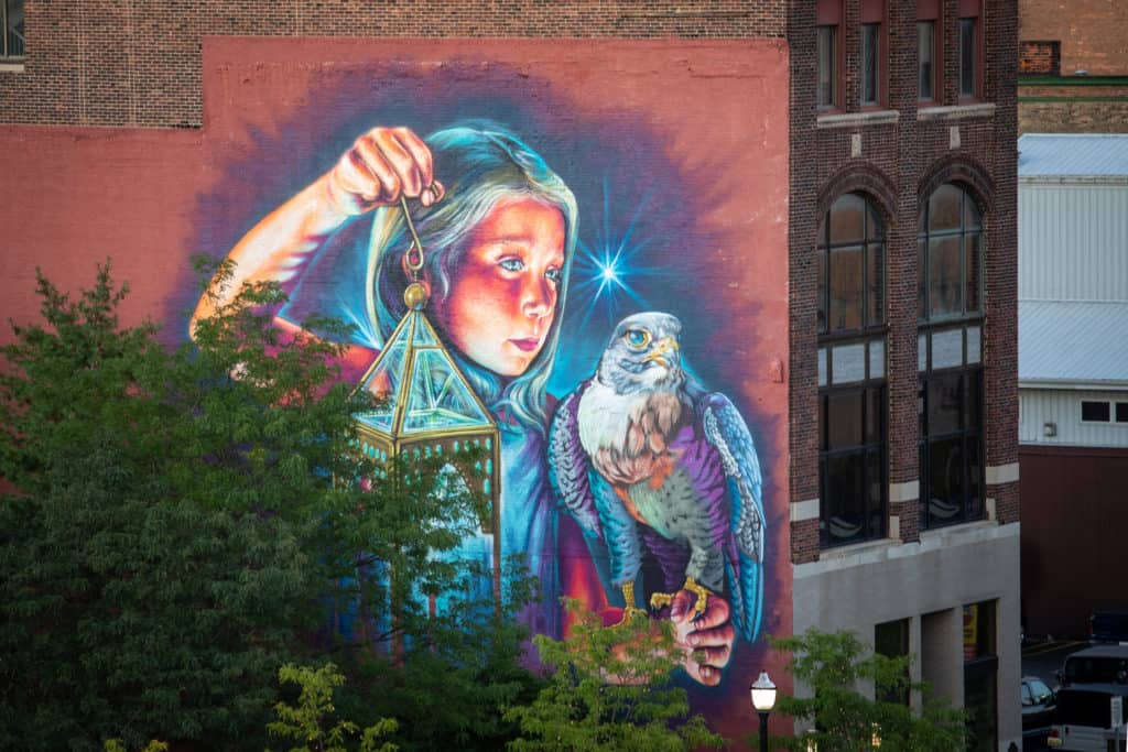girl falcon bright walls owley See the Bright Walls Murals in Downtown Jackson