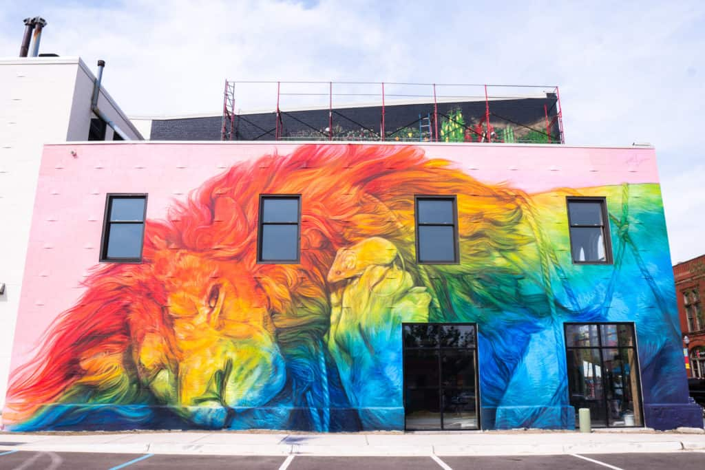 lion bright walls owley See the Bright Walls Murals in Downtown Jackson