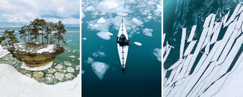 Frozen Michigan Lakes 26 Breath-Taking Photos of Frozen Michigan Lakes in Winter