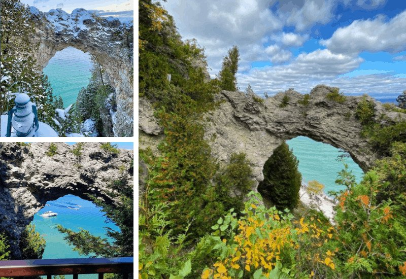 breath-taking photos of Arch Rock (Mackinac Island)
