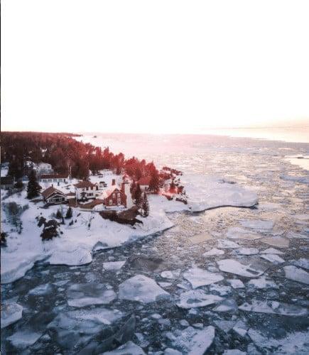 frozen winter lakes in Michigan: Keweenaw Peninsula