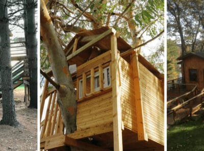 """Stay Overnight in a """"Treehouse""""   13 Treehouse Rentals in Michigan"""