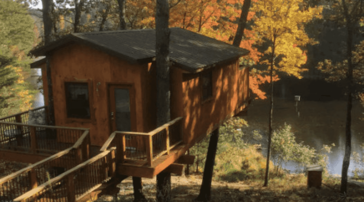 """Tree Houses Stay Overnight in a """"Treehouse""""   13 Treehouse Rentals in Michigan"""