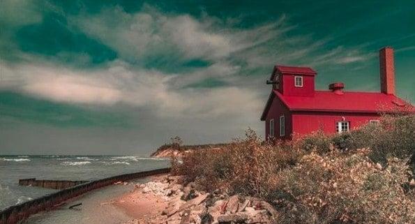 Cottage at Point Betsie Light