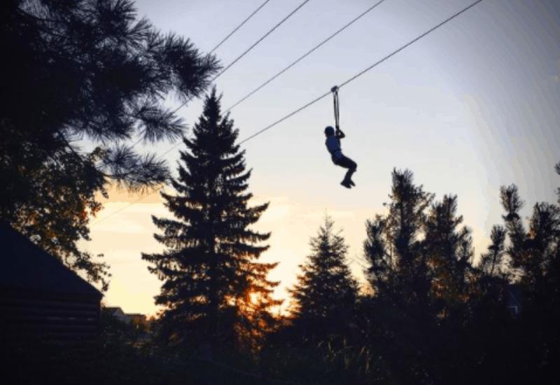 Adrenaline Falls Adventure Zipline - Mackinaw City