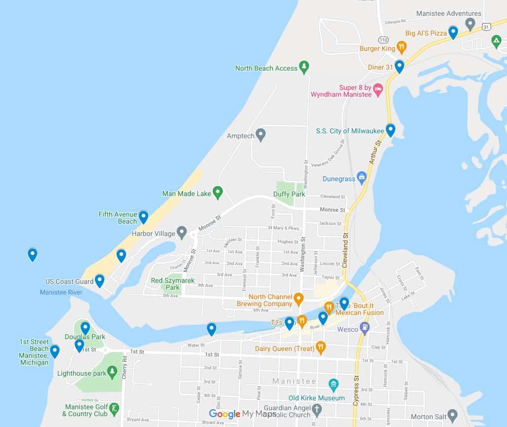 5th Avenue Beach Manistee screenshot Plan a Beach Day & Walk the Pier at 5th Avenue Beach