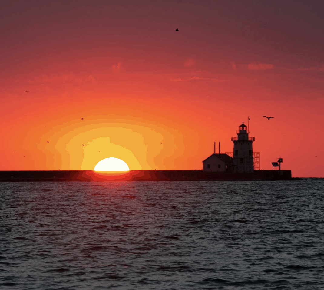 HarborBeachLighthouse tomhughes. Watch a Sunrise or Sunset Over Lake Huron in the Thumb