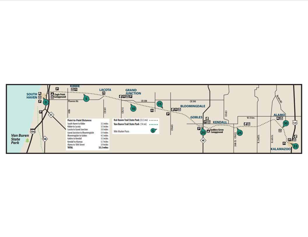 Kal Haven Trail Map Explore the Kal-Haven Trail State Park