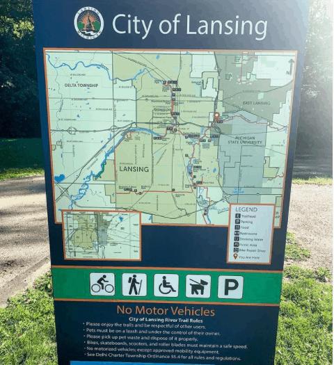 Lansing River Trail msu cas114 tieman Explore the Lansing River Trail