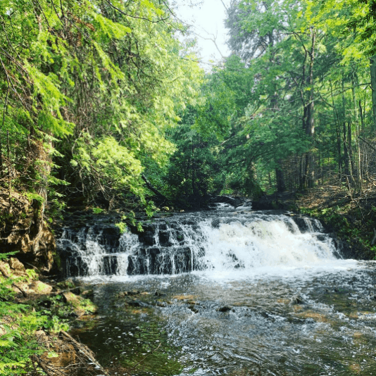 MosquitoFalls heatherbeckett Tour the Pictured Rocks Waterfalls from the Famous Log Cabin Retreat