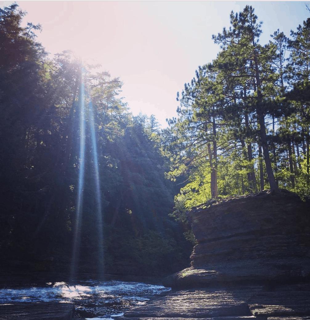 PresqueIsle sneaksandstilettos Hike the Presque Isle River Waterfalls Loop