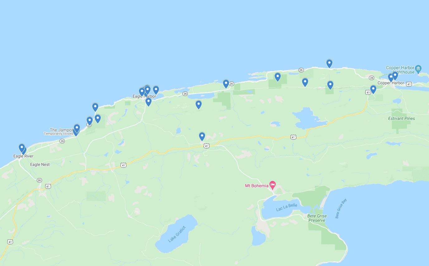 keweenaw eagle harbor map Spend a Day in Eagle Harbor MI on the Keweenaw Peninsula