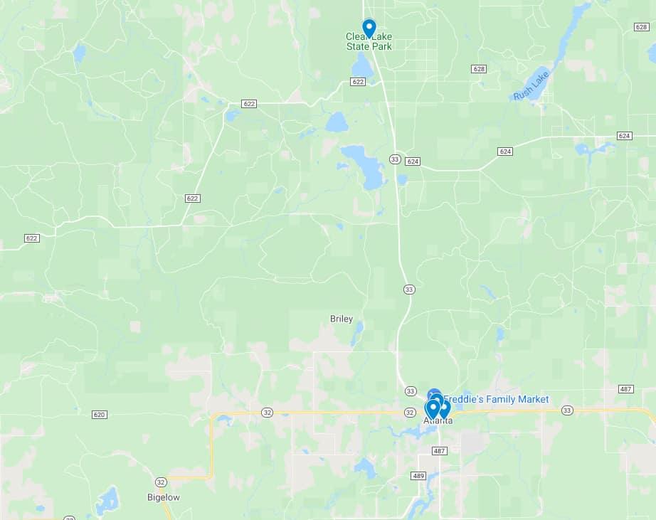 Clear Lake State Park Atlanta screenshot Unplug at Clear Lake State Park
