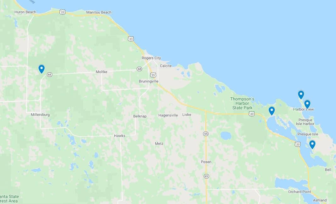 Presque Isle Lighthouse Tour screenshot Plan a Lake Huron Lighthouse Tour in Presque Isle County