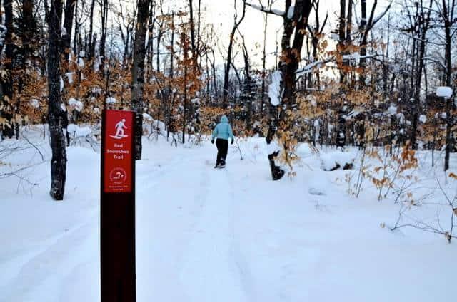 Snowshoeing in Tahquemenon 1 An Eastern Upper Peninsula Winter Road Trip #MittenTrip