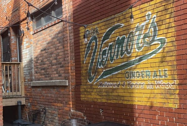 vernors wall mural in detroit