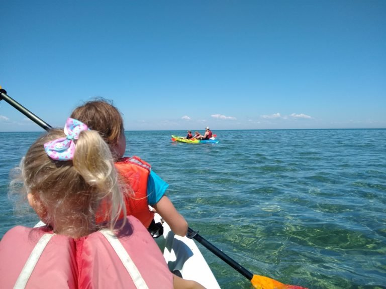 Kayaking to Flat Rock Turnip Rock Port Austin Michigan