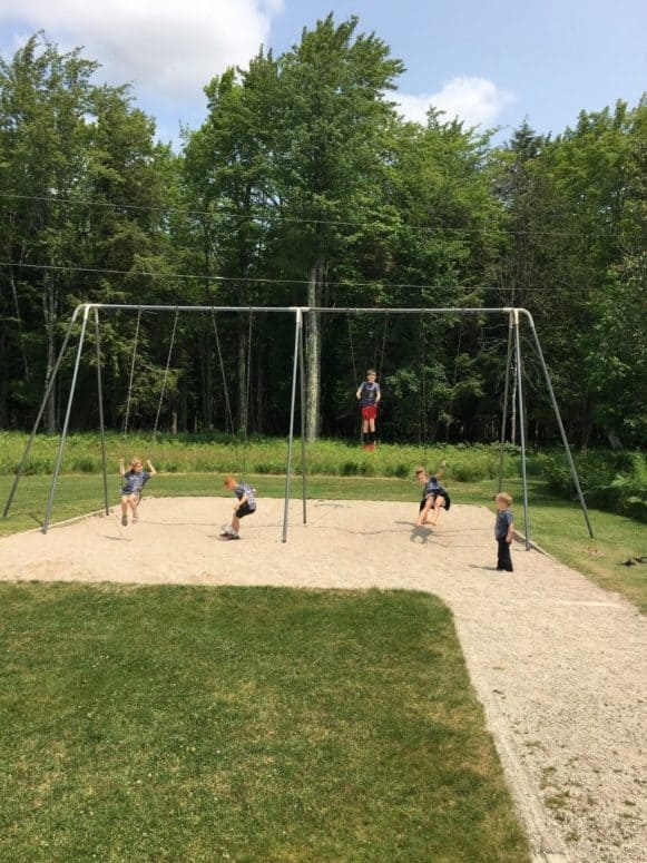 Swinging at Palms Book State Park Kitch iti kipi Just 4 Days to Explore the Upper Peninsula this Summer? Here's What We Did. #MittenTrip
