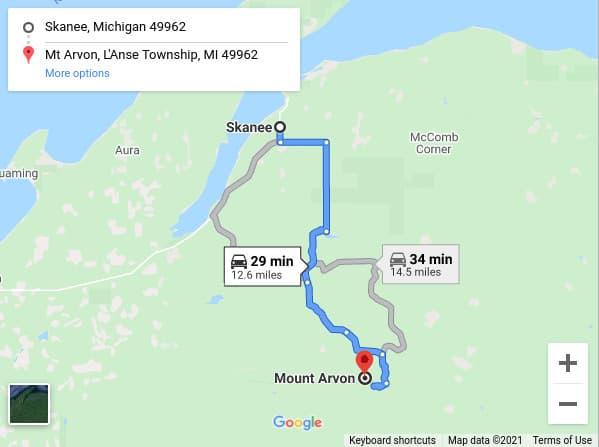 mount arvon map directions Visit Mount Arvon - Michigan's Highest Point