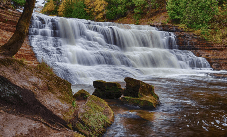 Agate Falls 18 Best Waterfalls in Michigan to Explore This Fall