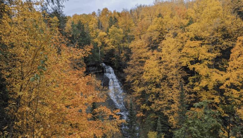 Chapel Loop Falls 25+ Michigan Hiking Trails for Fall Colors | Best Fall Hiking Trails in Michigan