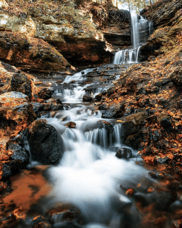 Horseshoe Falls 18 Best Waterfalls in Michigan to Explore This Fall