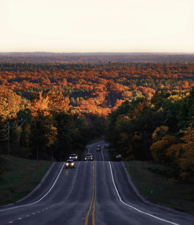 M 37 Baldwin to Traverse City 1 Best Scenic Fall Drives in Michigan For Stunning Color and Views