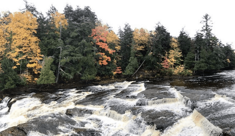 Manabezho Falls 18 Best Waterfalls in Michigan to Explore This Fall