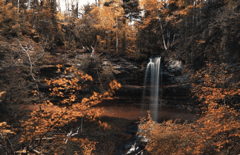 Munising Falls 18 Best Waterfalls in Michigan to Explore This Fall