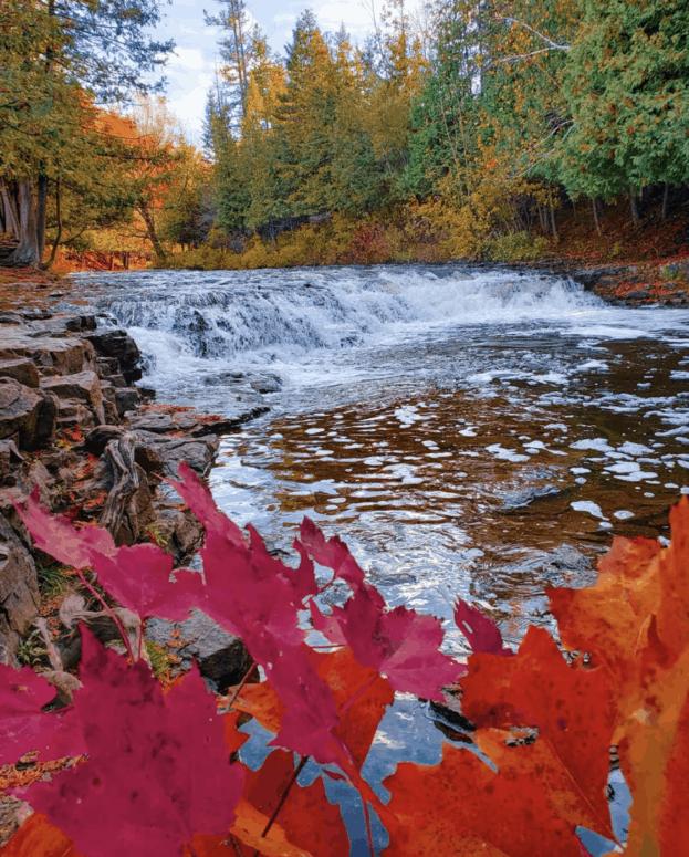 Ocqueoc Falls 1 18 Best Waterfalls in Michigan to Explore This Fall