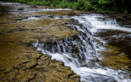 Explore Ocqueoc Falls – Michigan's Largest Waterfall in the Lower Peninsula with Year-Round Access