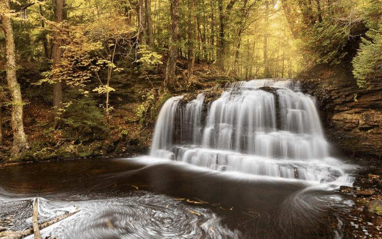 Rock River Falls 18 Best Waterfalls in Michigan to Explore This Fall