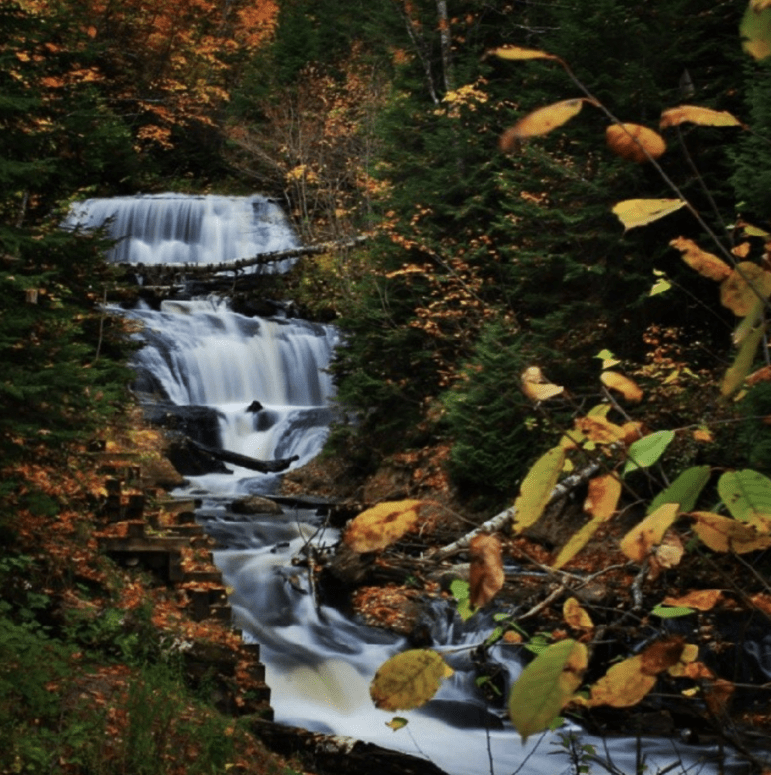 Sable Falls 18 Best Waterfalls in Michigan to Explore This Fall