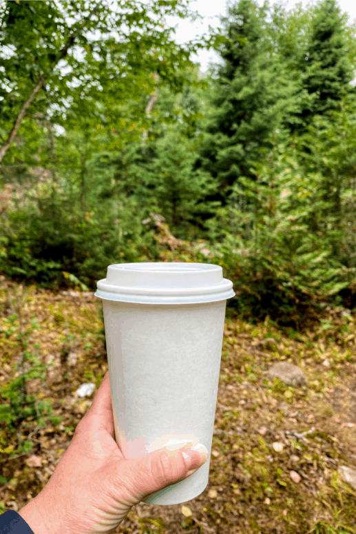 Hot coffee on Isle Royale.