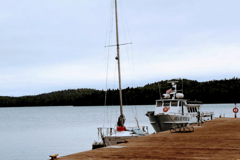 A Isle Royale ferry.