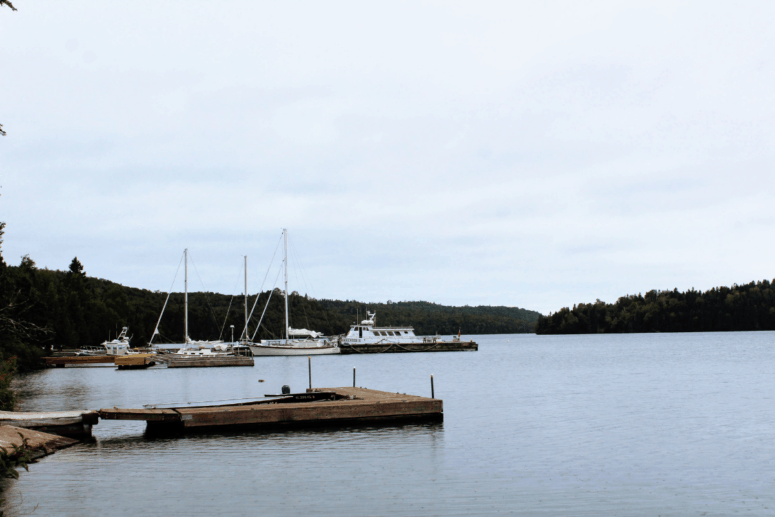 A view from the Sea Hunter III dock.