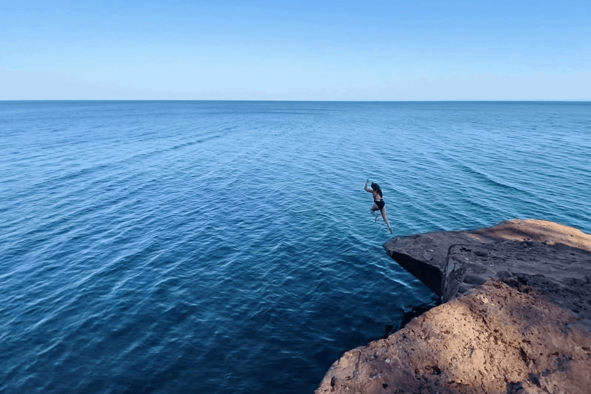12 I Cliff Jumped at Marquette's Famed Black Rocks. Here's How it Went