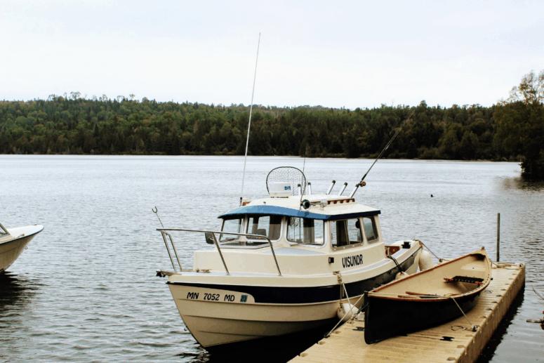 A boat on Lake Superior around Isle Royale National Park