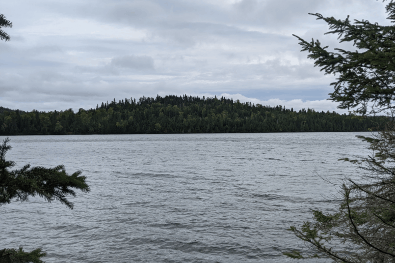 View of Lake Superior from the Feldtmann Trail on Isle Royale National Park.