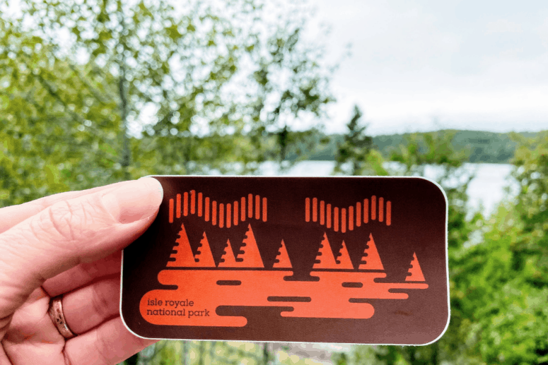 Souvenir sticker from the Isle Royale National Park visitor's center