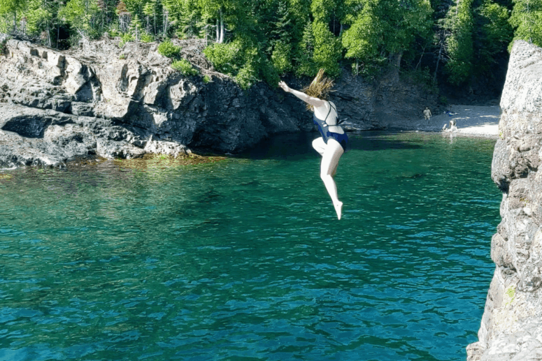2 I Cliff Jumped at Marquette's Famed Black Rocks. Here's How it Went