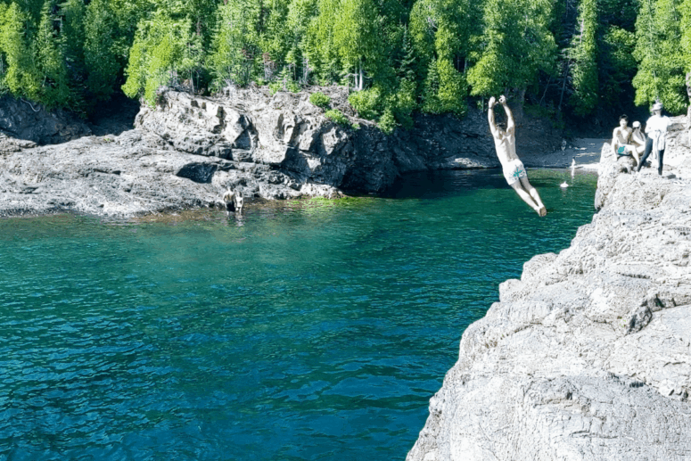 3 I Cliff Jumped at Marquette's Famed Black Rocks. Here's How it Went