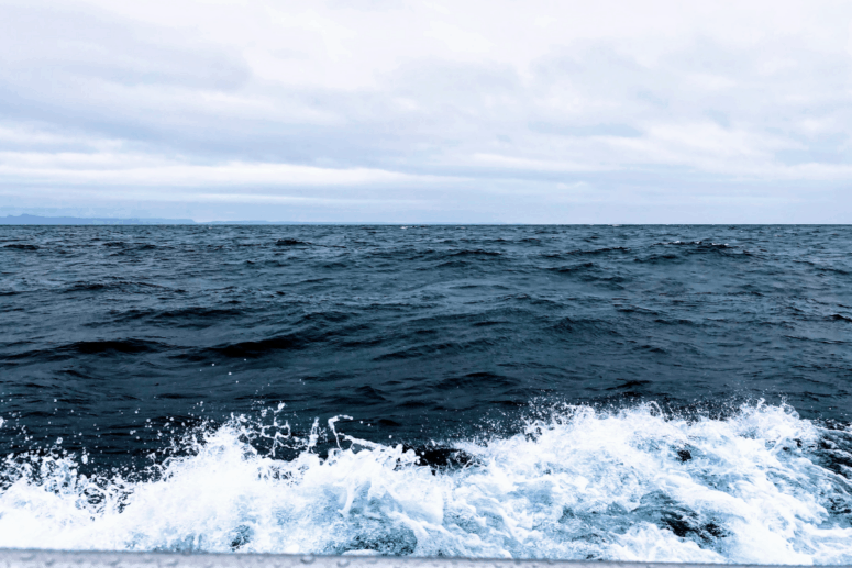 Stormy Lake Superior from the Isle Royale Ferry.