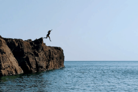 I Cliff Jumped at Marquette's Famed Black Rocks. Here's How it Went