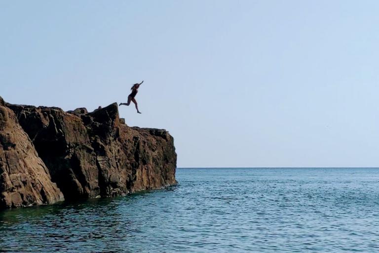 Nina Thomas Cliff Jump Black Rocks Marquette