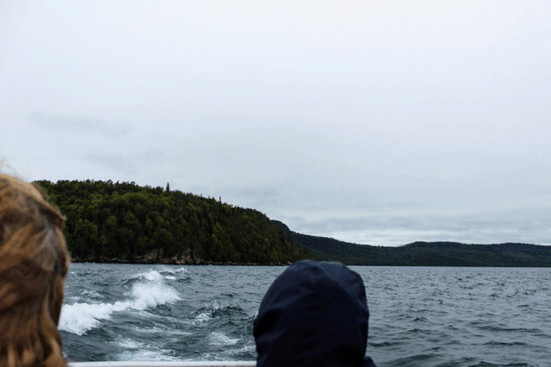 Ferry ride to Isle Royale.
