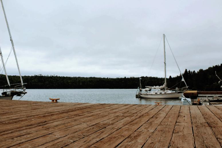 Boats on Isle Royale National Park