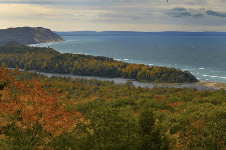 North Bar Lake Overlook 2 12 Can't-Miss Stops Along the Famous Pierce Stocking Scenic Drive in Sleeping Bear Dunes Michigan [with Map]