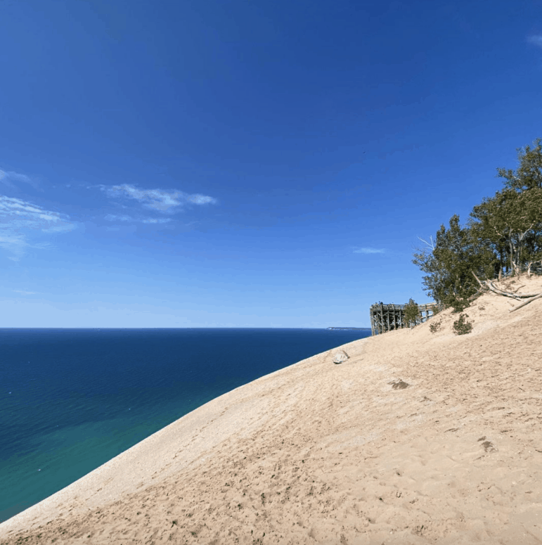 Sleeping Bear Dune Overlook 12 Can't-Miss Stops Along the Famous Pierce Stocking Scenic Drive in Sleeping Bear Dunes Michigan [with Map]